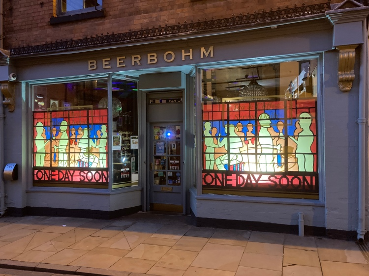 Beerbohm Bar Lichfield frontage on Tamworth Street